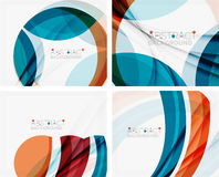 Blue and orange color shapes. Abstract background Royalty Free Stock Image