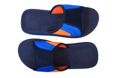 Blue and orange color slippers Stock Photo
