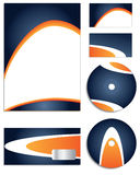Blue & Orange Company vector set Stock Images