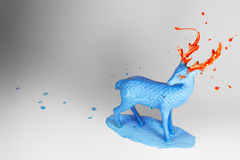 Blue and orange deer toy Royalty Free Stock Photos