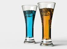 Blue and Orange Drinks Stock Photo