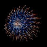 Blue and orange firework Royalty Free Stock Images