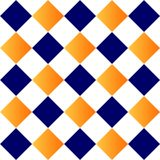Blue orange geometric background repetition cards backgrounds. Isolated repeat decoration pattern stock illustration