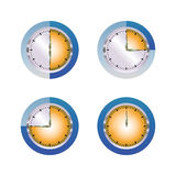 Blue orange glass timer Royalty Free Stock Images