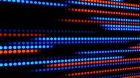 Blue Orange Glowing Digital Dots Loop Motion Background stock footage