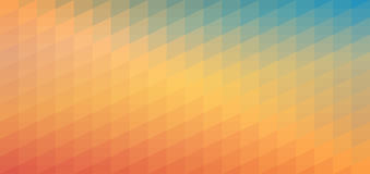 Blue and orange gradient mosaic pattern. Abstract geometric background for banner, poster, card, webpage design. Vector. Blue and orange gradient mosaic pattern vector illustration