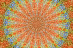 Blue orange kaleidoscope Royalty Free Stock Image
