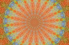 Blue orange kaleidoscope. Vintage kaleidoscope with blues and oranges Royalty Free Stock Image
