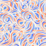 Blue and orange line swirls Stock Photography