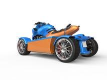 Blue and orange modern ATV Stock Photos
