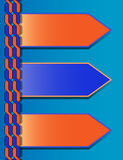 Blue-orange modern presentation template with three text boxes Stock Photos