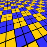 Blue and orange mosaic Royalty Free Stock Image