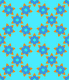 Blue orange Muslim  abstract  flowers seamless pattern. Blue orange Muslim  abstract  flowers seamless pattern for design Royalty Free Stock Image