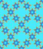 Blue orange Muslim  abstract  flowers seamless pattern. Blue orange Muslim  abstract  flowers seamless pattern for design vector illustration