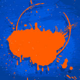 Blue and orange neon background Royalty Free Stock Photo