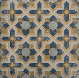 Blue and orange pattern tile Royalty Free Stock Photography
