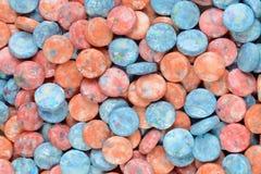 Blue orange pink candy background Royalty Free Stock Image