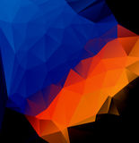 Blue orange polygonal abstract Stock Images