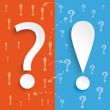 Blue Orange Question Answer Royalty Free Stock Images