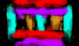 Blue orange red and purple painting abstract Royalty Free Stock Photos