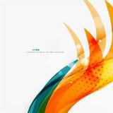 Blue, orange, red swirl wave lines. Light design Royalty Free Stock Photos