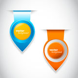 Blue and orange round pointers for your page Royalty Free Stock Images