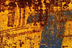 Blue and orange rusty background Stock Photo
