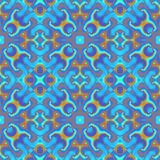 Blue orange seamless floral shapes Stock Photo