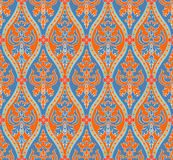 Blue and orange seamless pattern Stock Photography