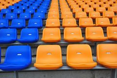 Blue and orange seat Stock Image
