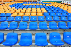 Blue and orange seat Royalty Free Stock Photo