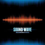 Blue and orange shiny sound waveform background Royalty Free Stock Photos