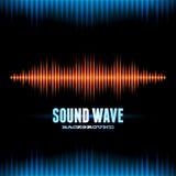 Blue and orange shiny sound waveform background. With sharp peaks Royalty Free Stock Photos