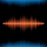 Blue and orange shiny sound waveform background Stock Image