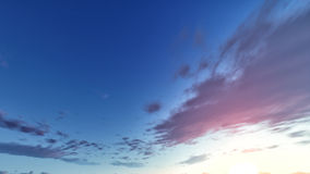 Blue and orange sky Royalty Free Stock Photography
