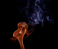 Blue-orange smoke. Royalty Free Stock Image