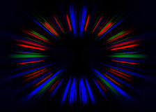 Blue and orange starburst background Royalty Free Stock Photography