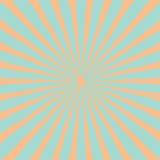 Blue orange sunburst starburst with ray of light. Template retro background Flat design. Royalty Free Stock Photo