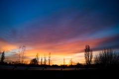 Blue and orange sunset Stock Photography