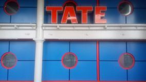 The blue and orange tate stock images
