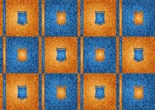 Blue and orange texture Stock Image
