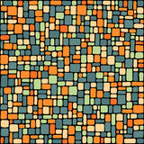 Blue and orange tiles background Stock Photography