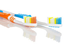 Blue and Orange Toothbrush Stock Image
