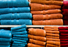 Blue and Orange Towels Stock Photography