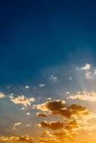 Blue And Orange Tranquil Summer Sunset Background Royalty Free Stock Image