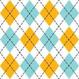 Blue and orange trendy argyle seamless pattern Royalty Free Stock Photography