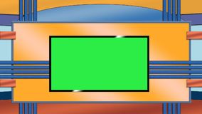Blue and orange TV studio background Royalty Free Stock Photos