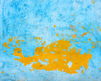 Blue and orange wall texture Stock Images