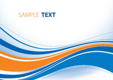 Blue and orange waves. Abstract template with blue and orange wave. Vector Stock Image
