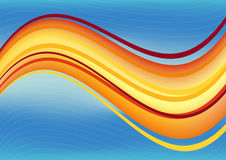 Blue and orange waves package background Royalty Free Stock Images